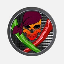 Chili Pirate-poster Wall Clock