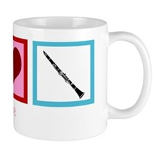 peaceloveclarinetwh Mug