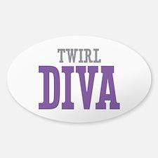 Twirl DIVA Sticker (Oval)
