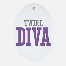 Twirl DIVA Ornament (Oval)
