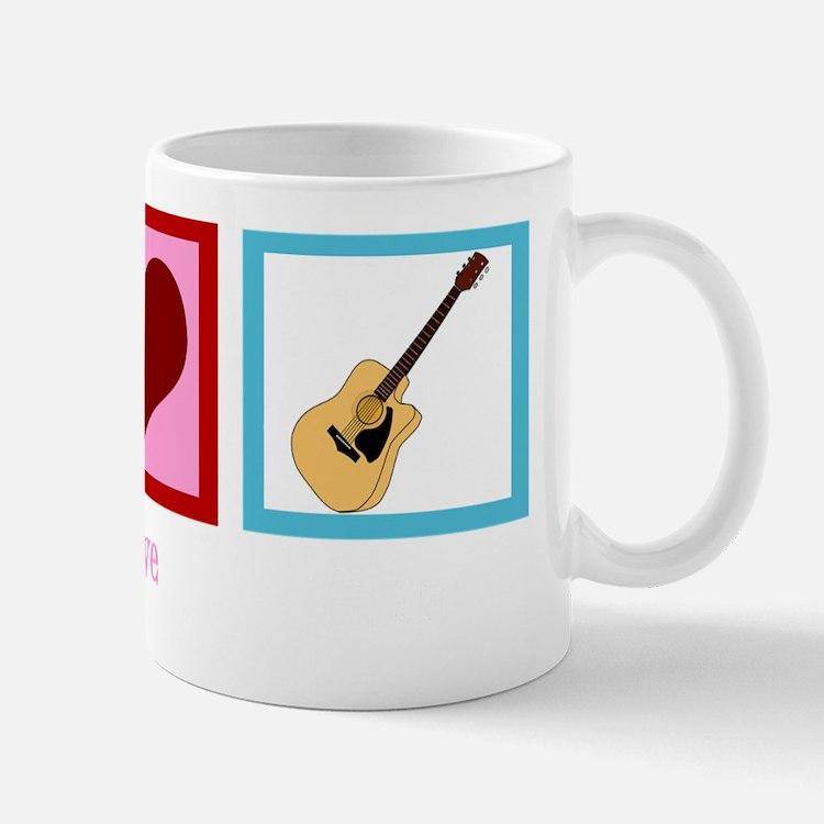peaceloveguitarwh Mug
