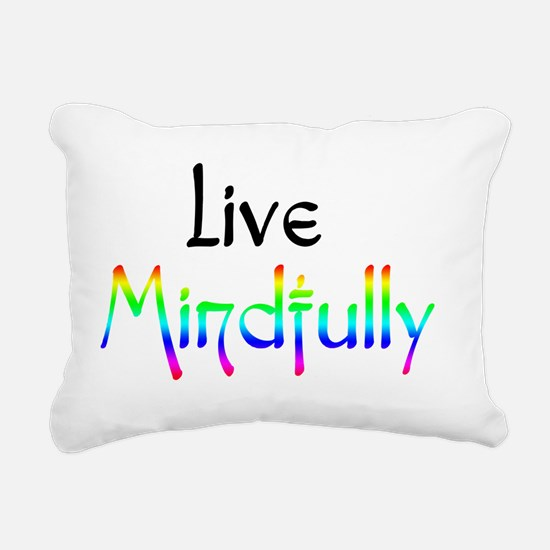 live_mindfully_black_for Rectangular Canvas Pillow