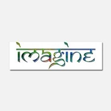 Imagine Rainbow Car Magnet 10 x 3