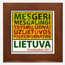 eurobasketsukis Framed Tile