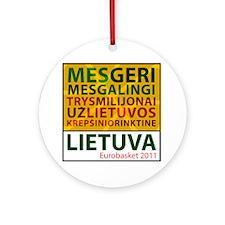eurobasketsukis Round Ornament