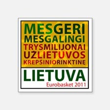 "eurobasketsukis Square Sticker 3"" x 3"""