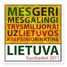 """eurobasketsukis Square Car Magnet 3"""" x 3"""""""