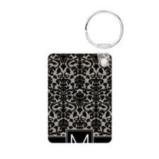 m_monogram_iphone_damask_t Keychains