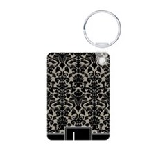 l_monogram_iphone_damask_t Keychains