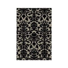Damask Pattern Taupe Rectangle Magnet
