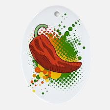 Chili Heat Oval Ornament