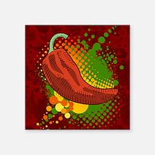 "Chili Season-mousepad Square Sticker 3"" x 3"""