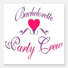 "BACHELORETTE_1sq Square Car Magnet 3"" x 3"""
