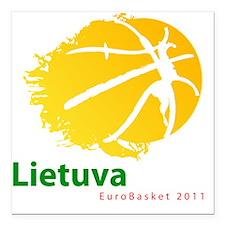 "eurobasketvytisball Square Car Magnet 3"" x 3"""