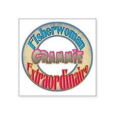 """FISHERWOMAN GRAMMIE Square Sticker 3"""" x 3"""""""