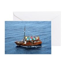 boat,Mexico Greeting Card