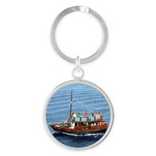 boat,Mexico Round Keychain