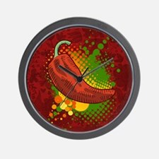 Chili Season-pillow Wall Clock