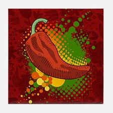 Chili Season-pillow Tile Coaster