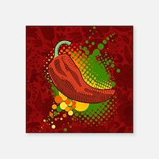"""Chili Season-pillow Square Sticker 3"""" x 3"""""""