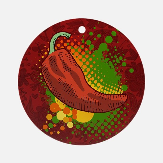 Chili Season-pillow Round Ornament