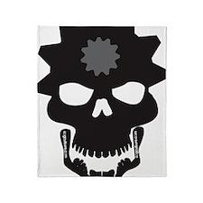 Flip Flop Skull Throw Blanket