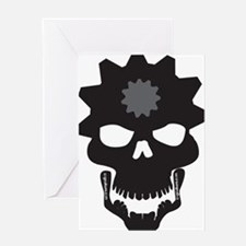 Flip Flop Skull Greeting Card