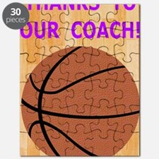 Thank You Greeting Card for Basketball Coac Puzzle