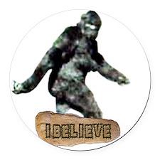 Bigfoot_I_Believe Round Car Magnet