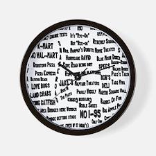 ykyfsbyrBACK Wall Clock