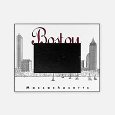 Boston_7x7_BostonSkyline_BlackRed Picture Frame