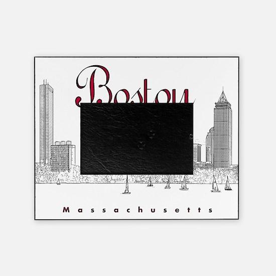 Boston_7x7_BostonSkyline_BlackRed Picture Frame