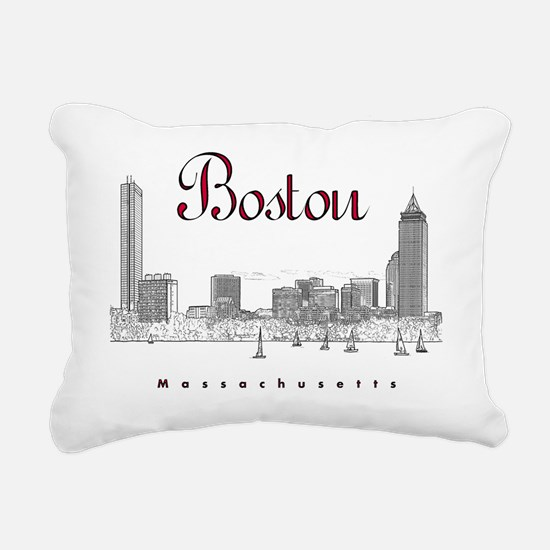 Boston_7x7_BostonSkyline Rectangular Canvas Pillow