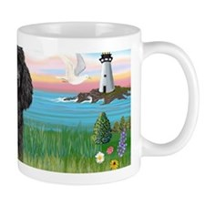 LIC-Lighthouse-BlackToyPoodle Small Mug