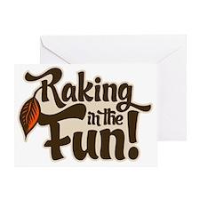 raking Greeting Card