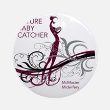 mcmaster midwifery no date maroons Round Ornament