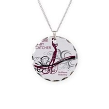 mcmaster midwifery no date m Necklace Circle Charm