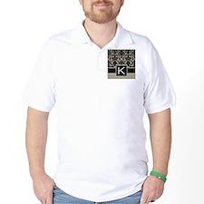 k_monogram_iphone_damask_taupe T-Shirt