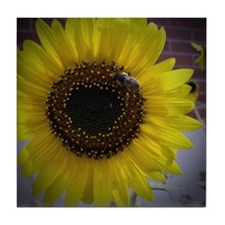 Sunflower bumble Bee 02 Tile Coaster