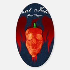 Ghost-poster Sticker (Oval)