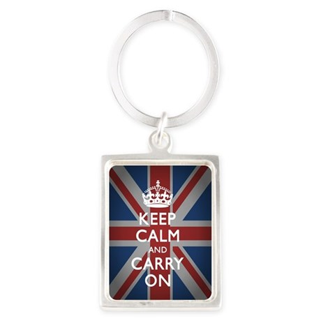Keep Calm and Carry on (with Uni Portrait Keychain