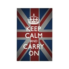 Keep Calm and Carry on (with Unio Rectangle Magnet