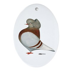 Mealy Cap Flight Oval Ornament