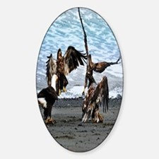 Eagles Greeting or Conflict Sticker (Oval)