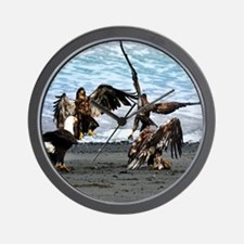 Eagles Greeting or Conflict Wall Clock