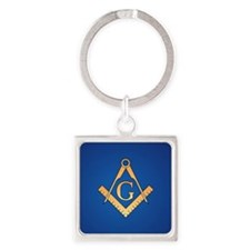 Masonic Square and Compass Square Keychain