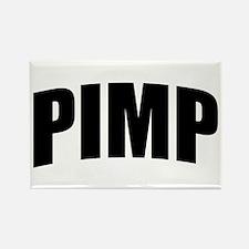 Pimp Bold Black Rectangle Magnet