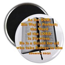 Gods word shield_G on red Magnet
