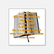 "Gods word shield_G on red Square Sticker 3"" x 3"""