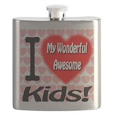 I Love My Wonderful Awesome Kids Flask